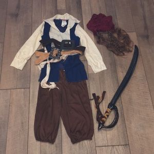 Pirates of the Caribbean Jack Sparrow Costume 7-8